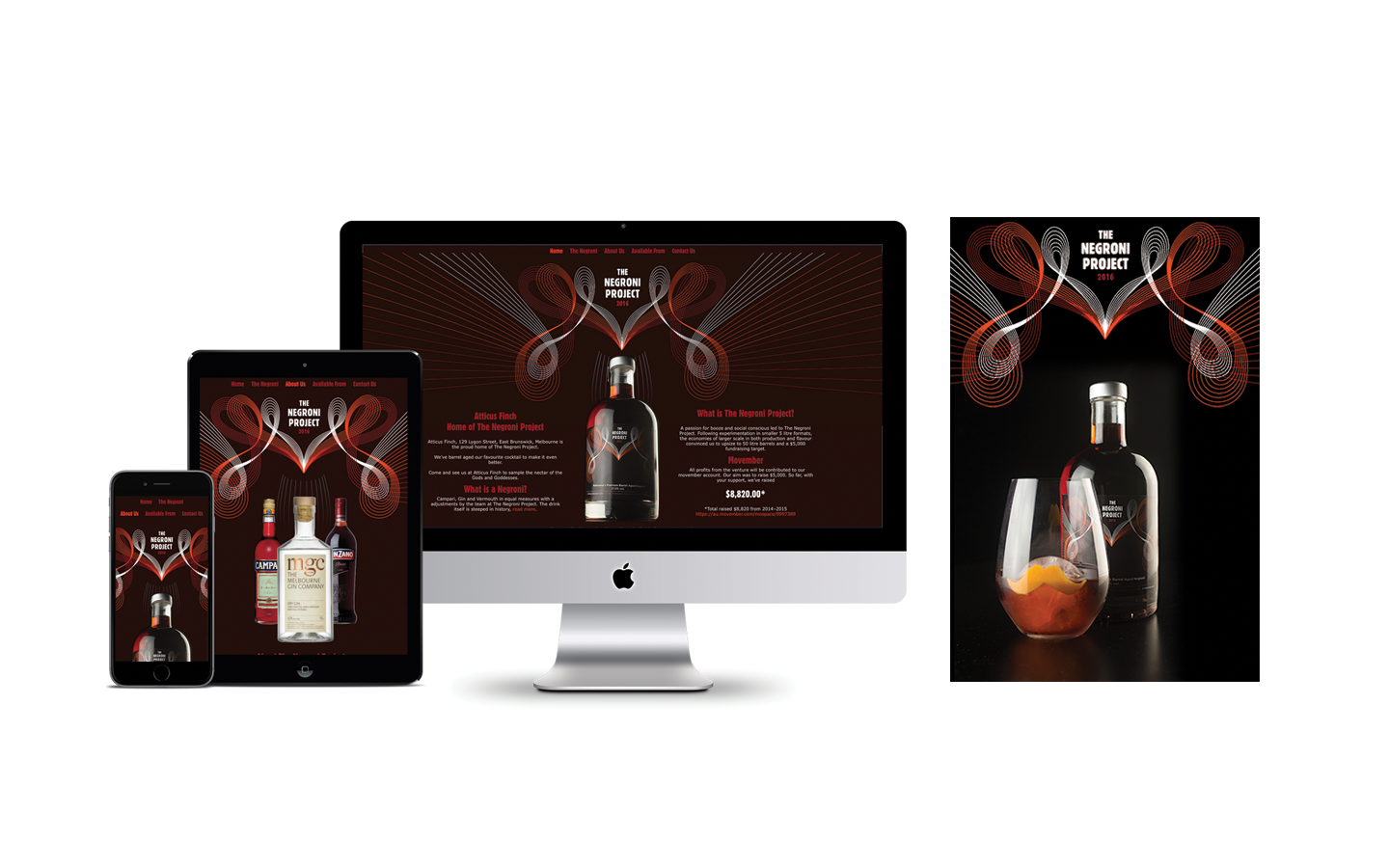 WordPress Website Design Concept for The Negroni Project
