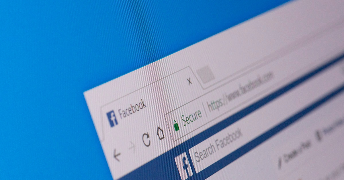 Webalite screenshot of Facebook