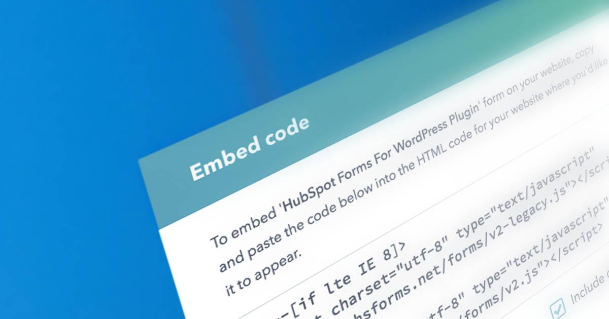 Embedding HubSpot Forms